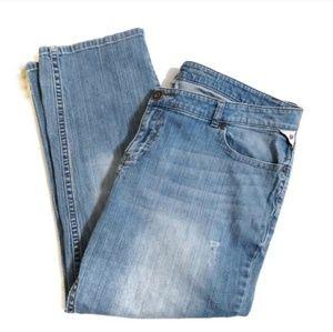 Avenue boyfriend fit distressed jeans sz 18 short